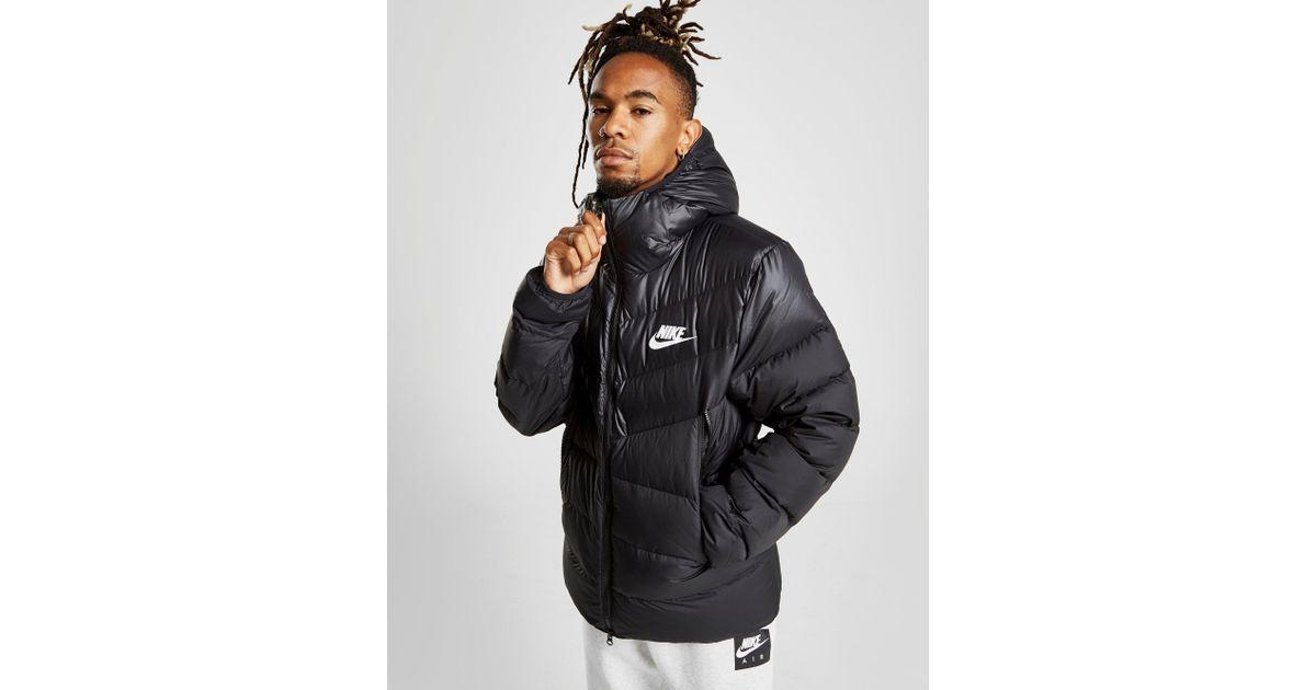 Nike Down Fill Bubble Jacket in Black for Men - Lyst a8380cba1