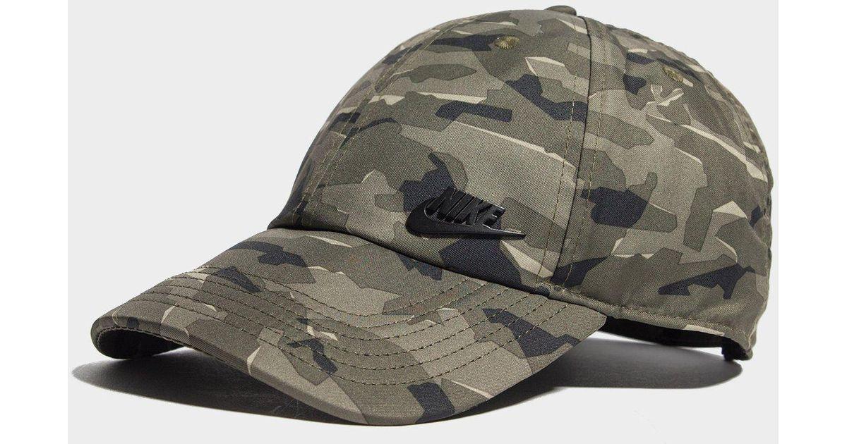 Nike - Green Futura Camo Cap for Men - Lyst 50a0ffcf668