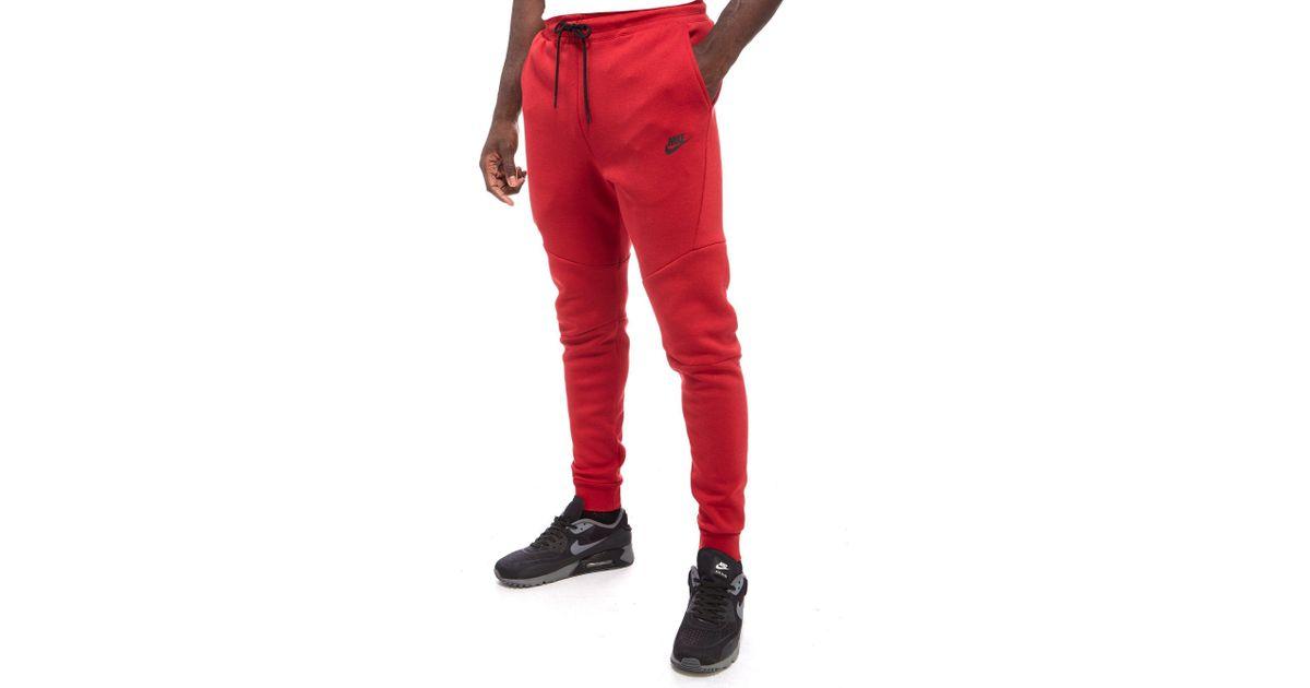 Nike Tech Fleece Pants in Red for Men - Lyst 11a372514