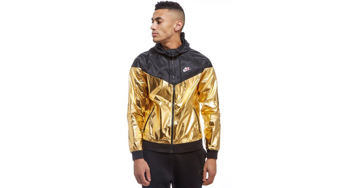 cab2bbe15b6c Lyst - Nike Windrunner Foil Jacket in Metallic for Men