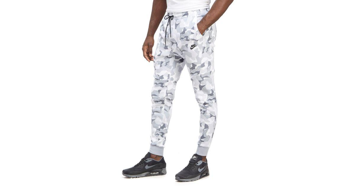 470cdf87d9c3 Lyst - Nike Tech Fleece Camouflage Pants in White for Men
