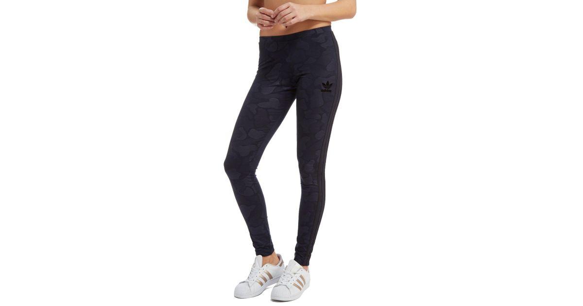 Lyst Adidas Originali 3 Strisce Mimetico Gambali In Blu