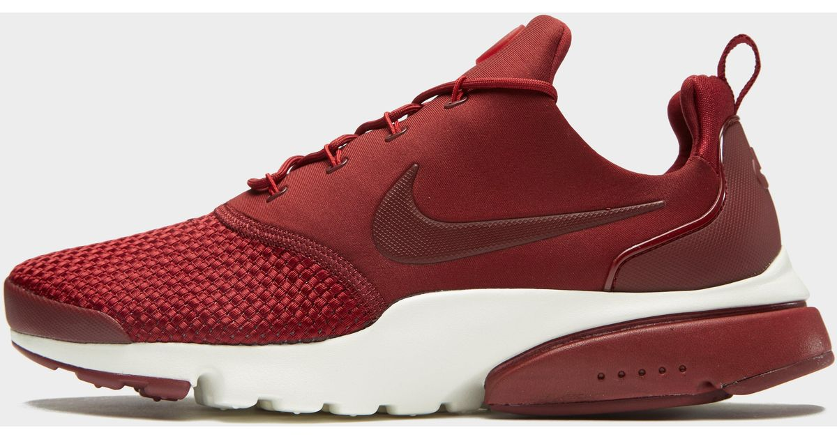 fccd402c0f37 Lyst - Nike Air Presto Fly Woven in Red for Men