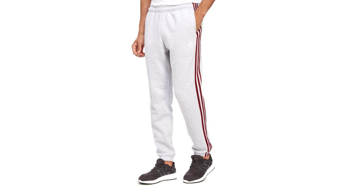 8ca722915c72 Lyst - adidas 3-stripes Essential Track Pants in Gray for Men