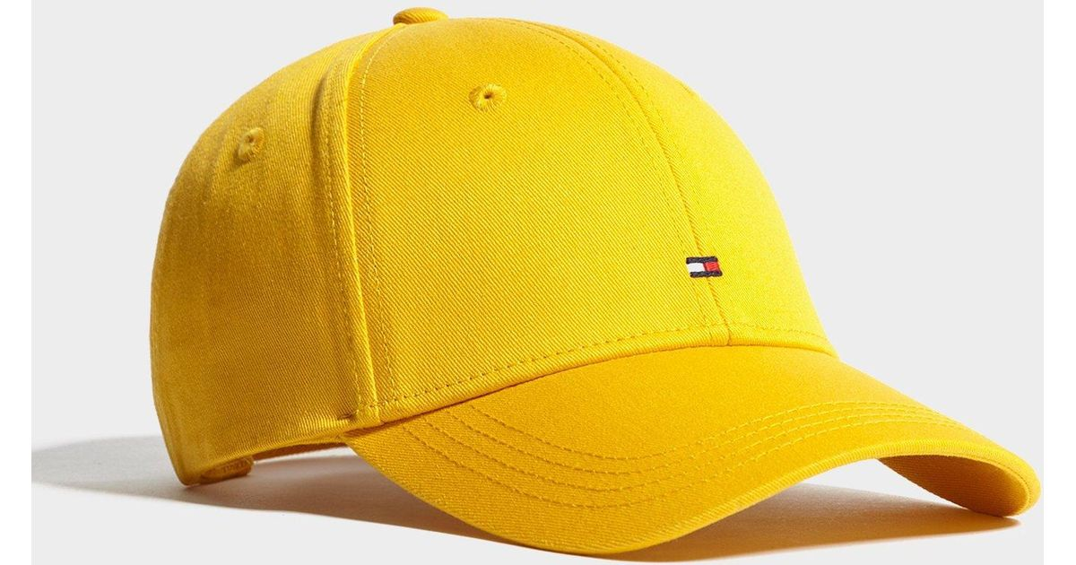 Lyst - Tommy Hilfiger Classic Baseball Cap in Yellow for Men 7e92a353cec