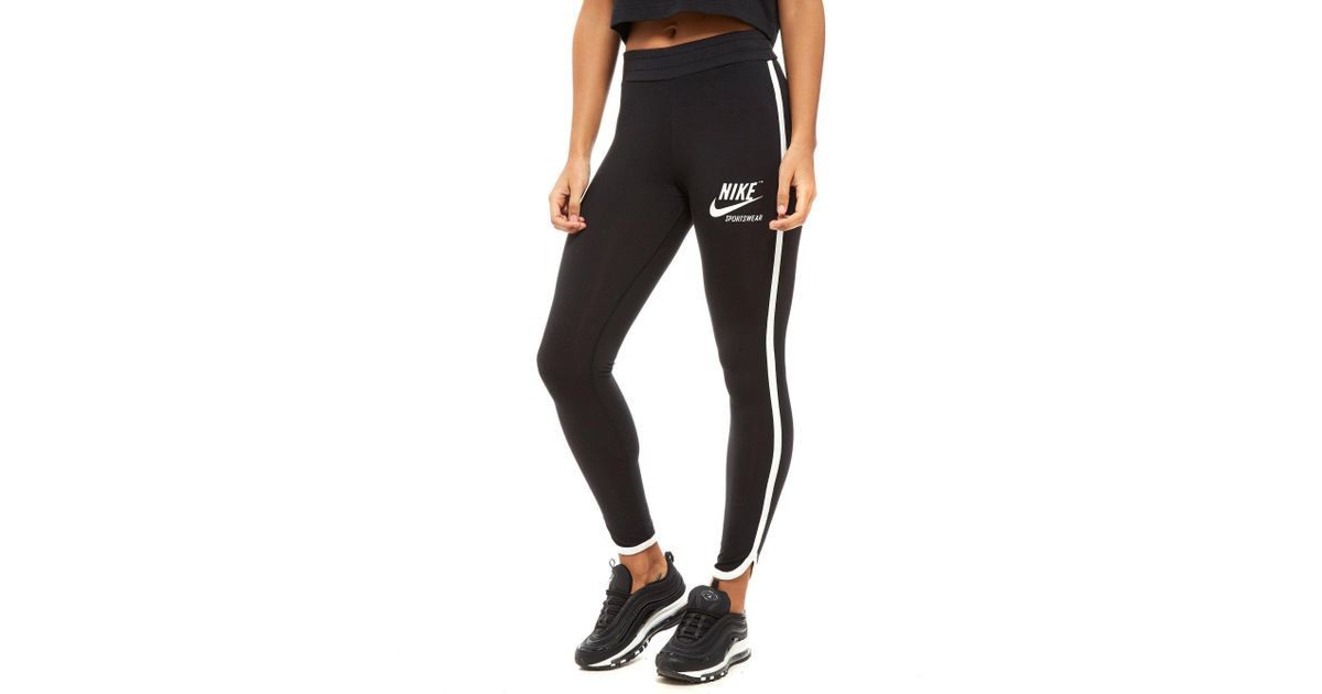dc7770652393d4 Nike Archive Leggings in Black - Lyst