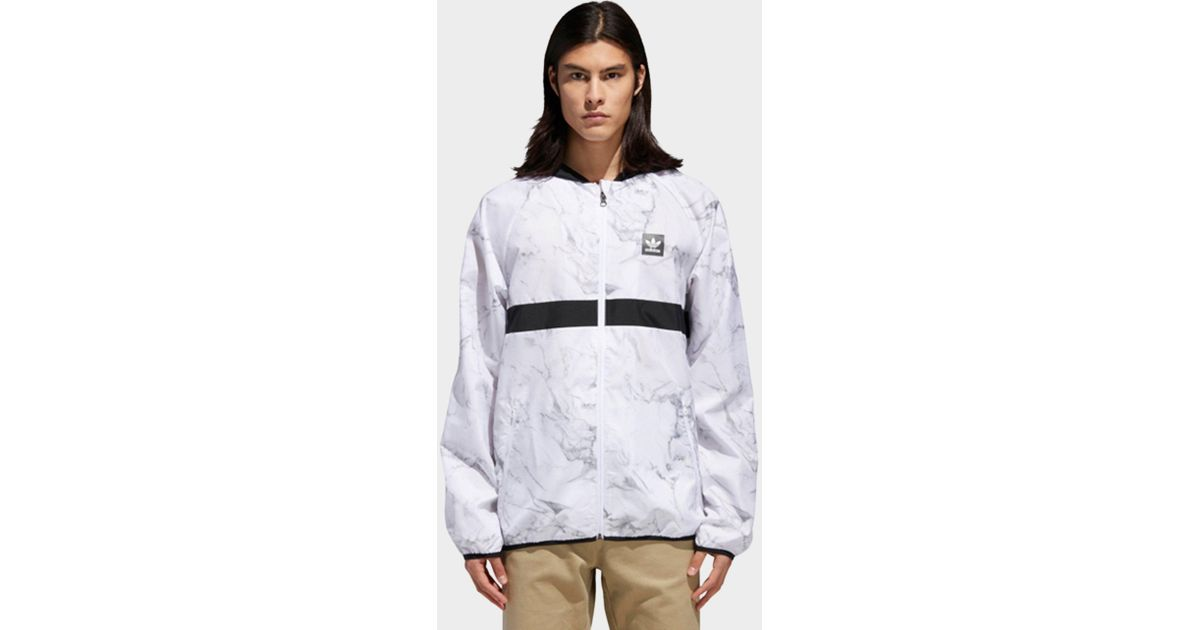 44dfbc216e44 Lyst - adidas Marble Bb Packable Wind Jacket in White for Men