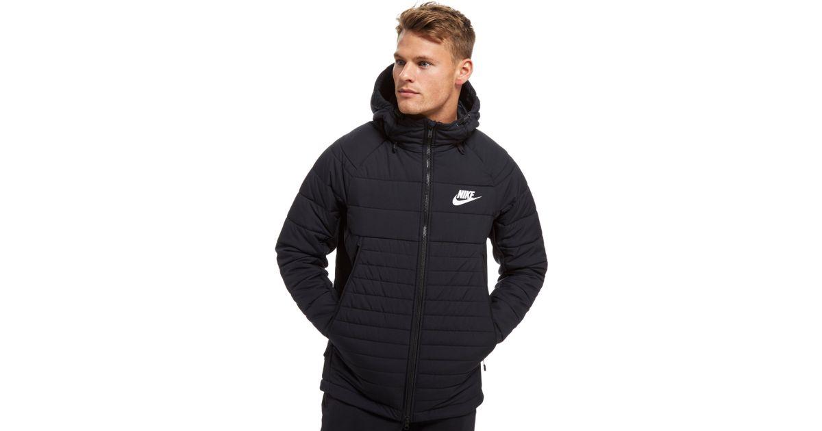 Lyst - Nike Sportswear Hooded Down Jacket in Black for Men 4afe5fa391