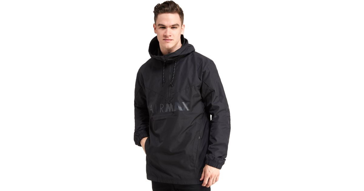 top brands best selection of 2019 dirt cheap Nike Black Air Max Half Zip Chevron Jacket for men