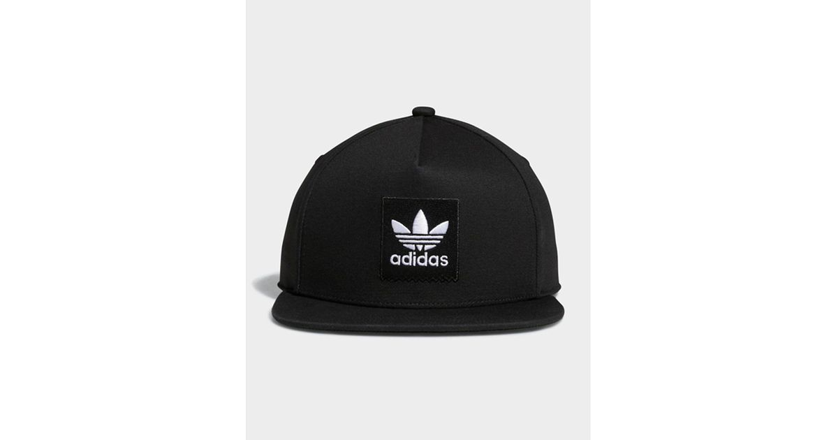 9641292435d adidas Two-tone Trefoil Snapback Hat in Black - Lyst
