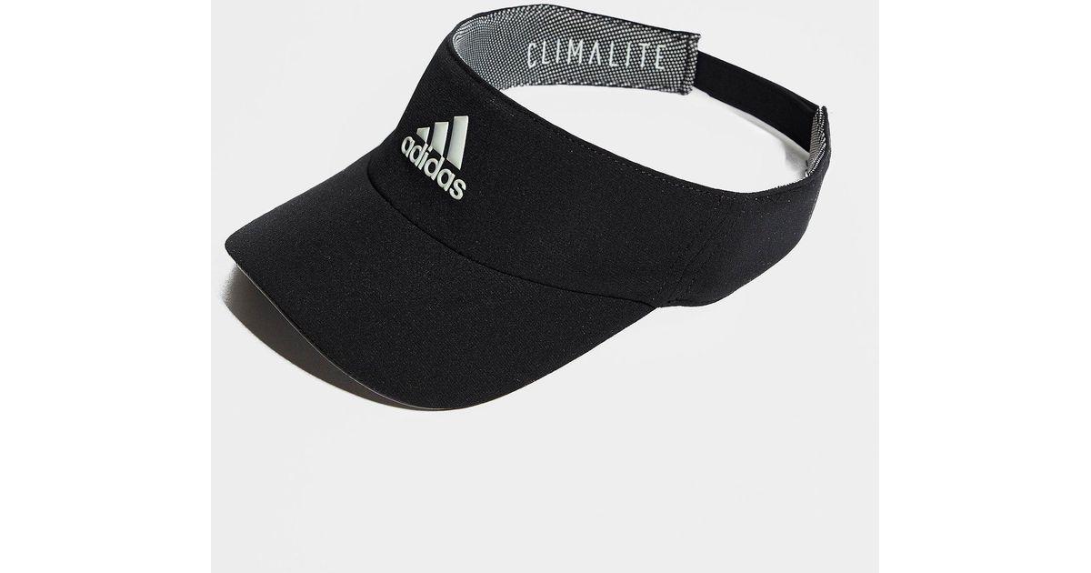 ffe0e50bfdb9 Adidas Climalite Visor in Black - Lyst