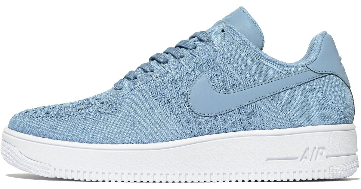 reputable site b2f48 9a19c Lyst - Nike Air Force 1 Flyknit in Blue