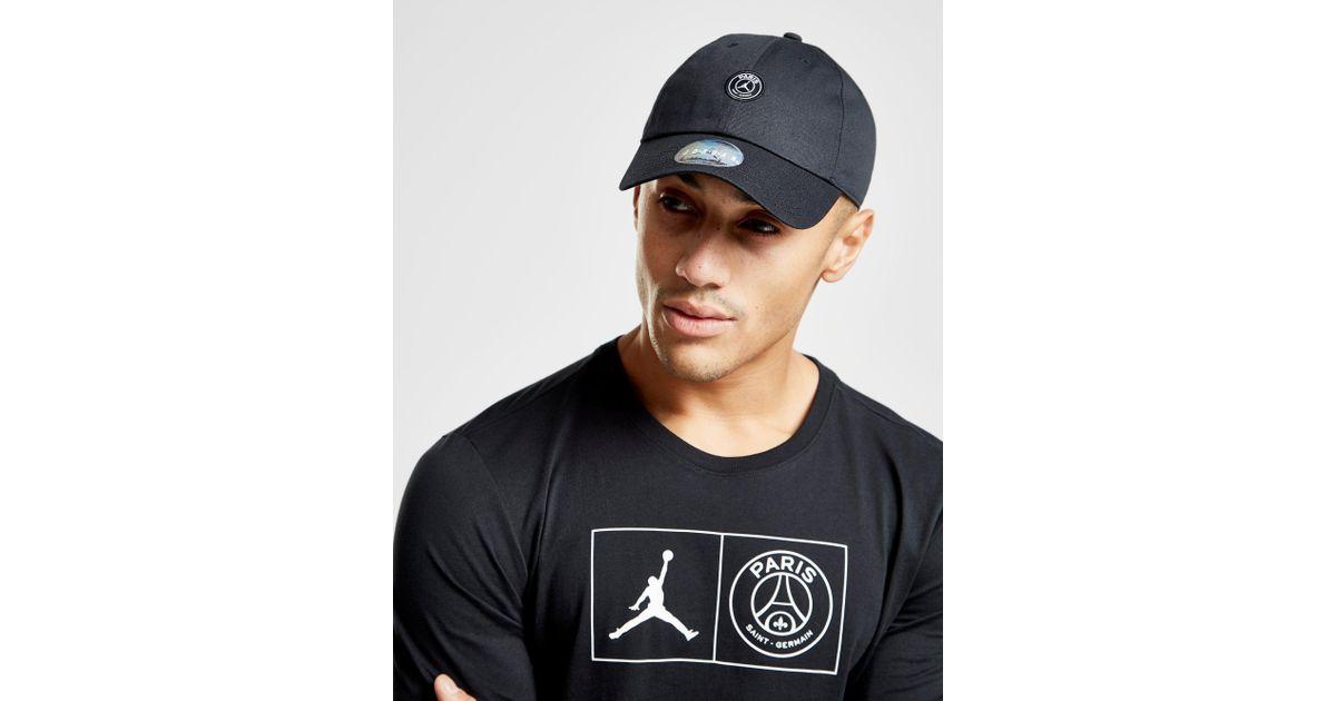 low priced bc302 adf9c Nike X Paris Saint Germain H86 Cap in Black for Men - Lyst