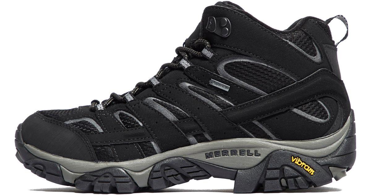 4de585a26e5 Merrell - Black Moab 2 Mid Gore-tex Hiking Boots for Men - Lyst