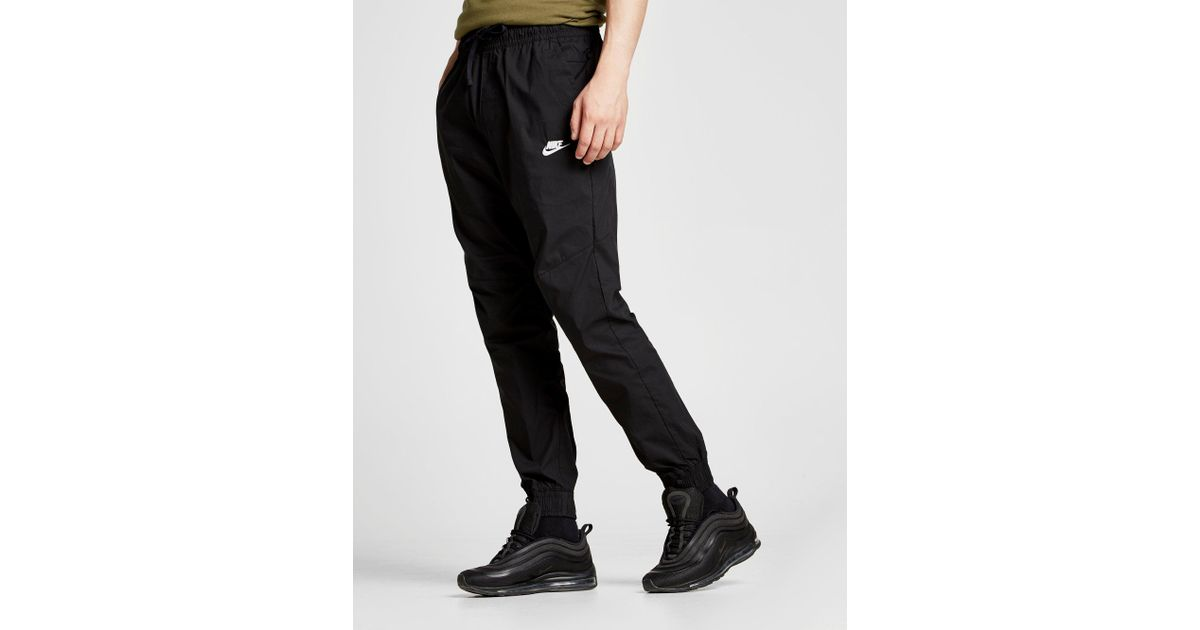 Nike Twill Cuffed Track Pants in Black for Men - Lyst e999b7a98bc3