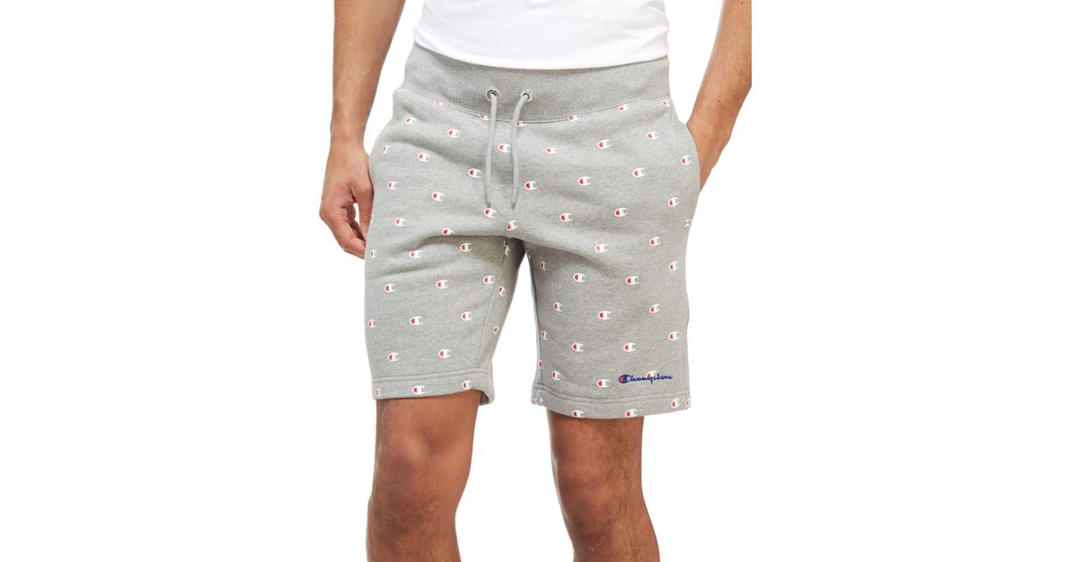 14750b5dfd Champion All-over Print Shorts in Gray for Men - Lyst