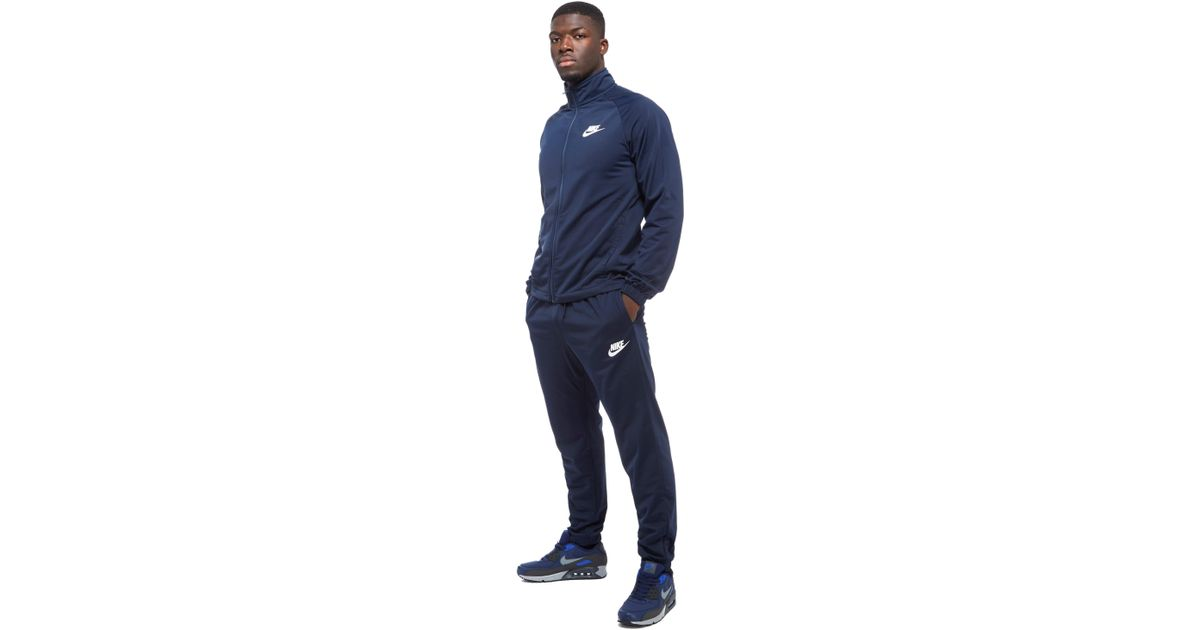 b873dbae13 ... more photos 91b41 c85a4 Nike Season 2 Poly Tracksuit in Blue for Men -  Lyst ...