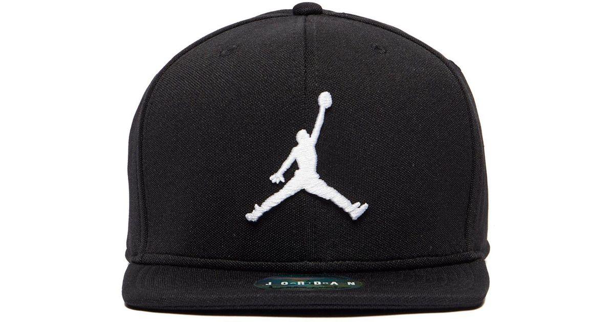 5c6dbc6a754 Lyst - Nike Jumpman Snapback Cap in Black