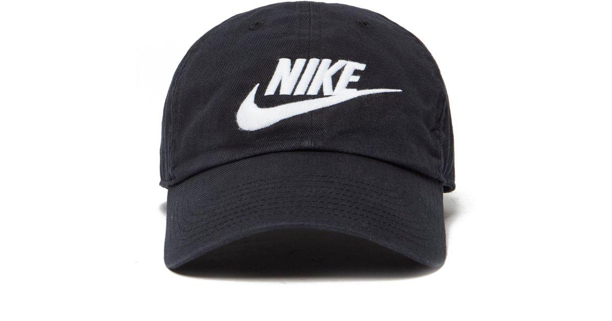 Nike Futura Washed Strapback Cap in Black for Men - Lyst 2a88e328358