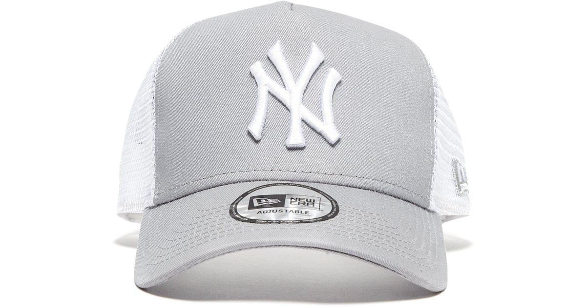 1920194c ... lyst ktz mlb new york yankees snapback trucker cap in gray for men