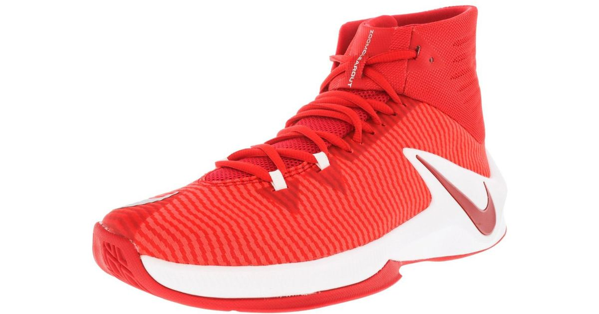 innovative design c48a5 9e2ee Nike Zoom Clear Out Tb University Red   Ankle-high Fabric Basketball Shoe -  10.5m in Red for Men - Lyst