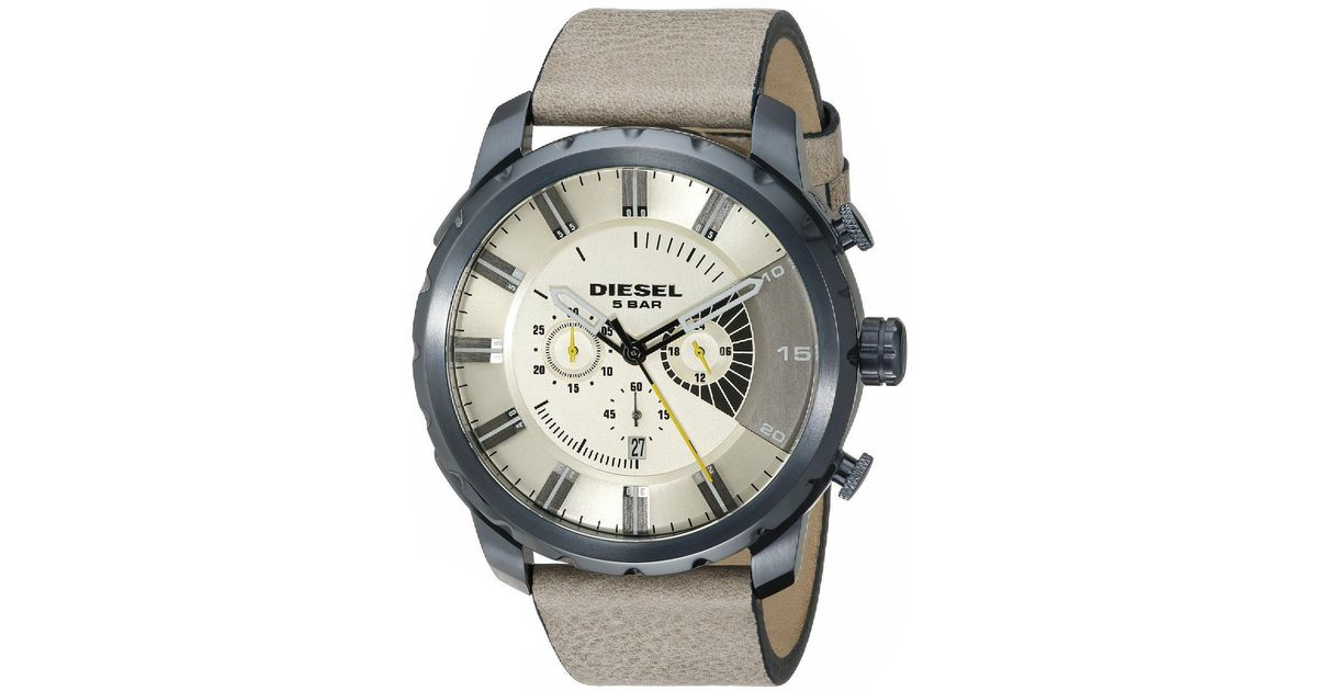 DIESEL - Multicolor Brand New Mens (dz4354) Stronghold Beige Sand Brown  Leather Watch Sale! for Men - Lyst