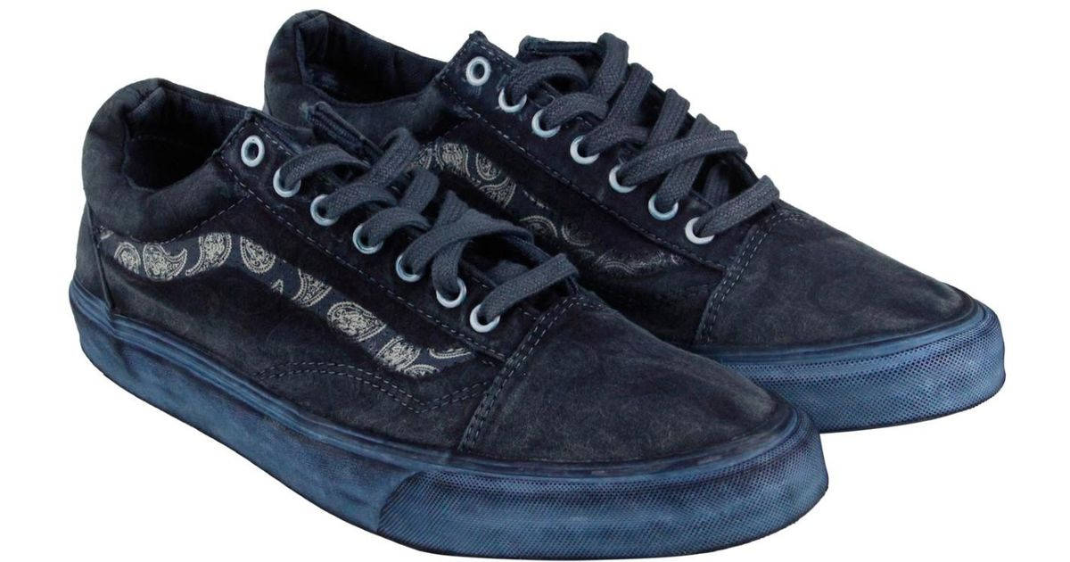 929321f42d69c2 Lyst - Vans Old Skool Reissue + Overwash Paisley Dress Lace Up Sneakers in  Blue for Men