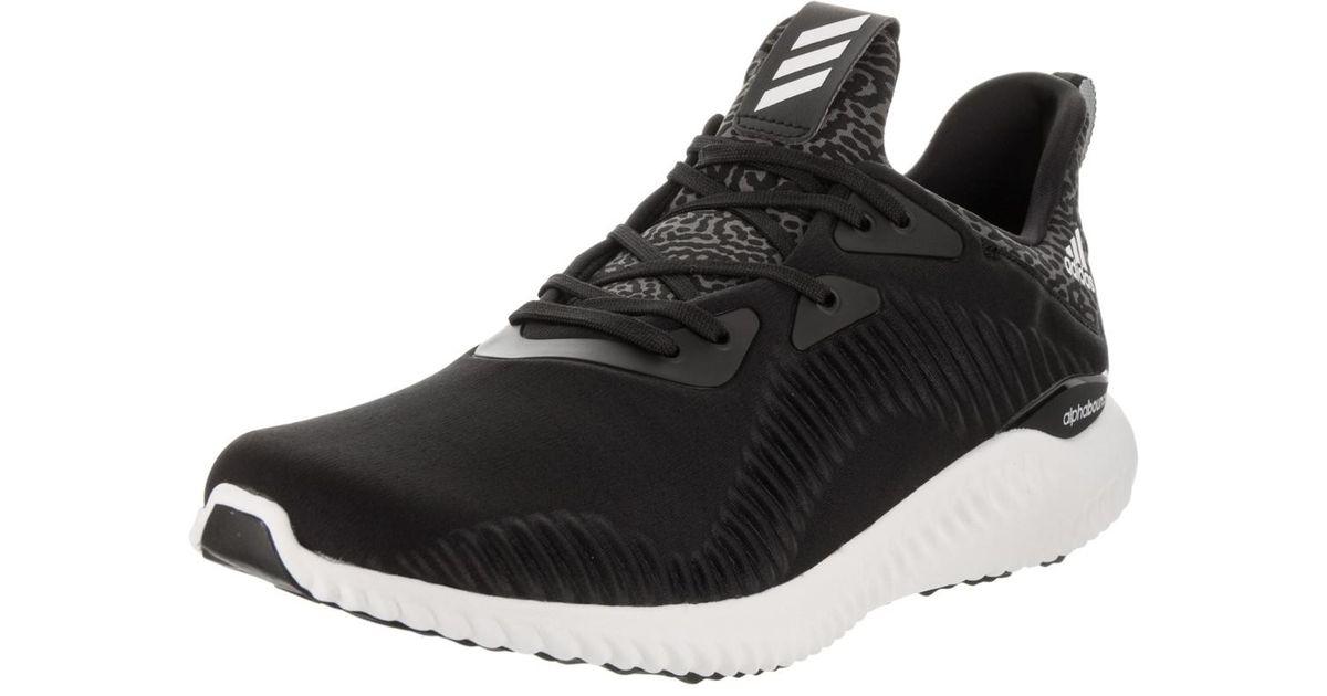 2889 lyst adidas alphabounce nero / bianco in scarpe da corsa uomini