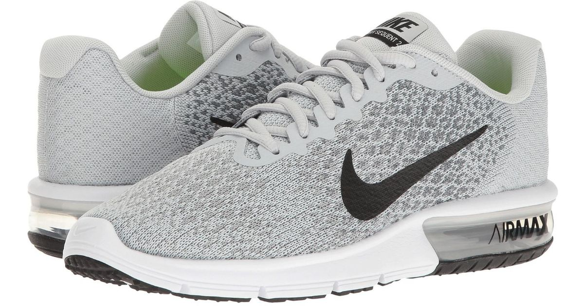 f0a0a0f91454c Nike - Gray Air Max Sequent 2 Pure Platinum/black/cool Grey Running Shoe  9.5 Women Us - Lyst