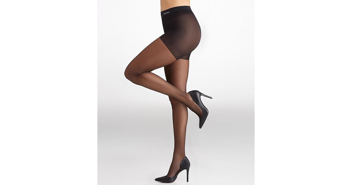 f8335079576 Lyst - Calvin Klein Sheer Essentials Sheer Stretch Control Top Pantyhose in  Black