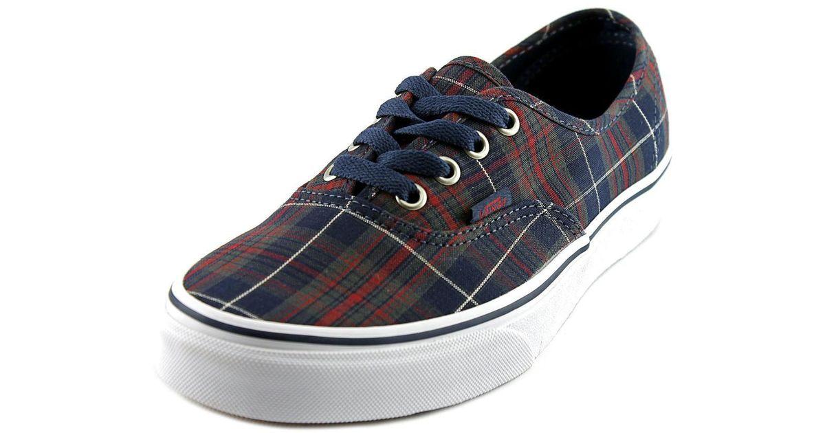 1bc89d808a5c07 Lyst - Vans Unisex Authentic Plaid Sneakers Dressblues M6 W7.5