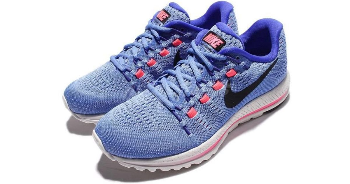 8bce96f6d92a ... free shipping lyst nike air zoom vomero 12 blue pink running shoes  sneakers 863766 400 in ...