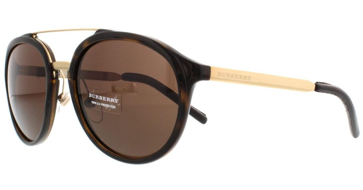 74b0222f44ac Lyst - Burberry Be 4168q 3002 73 Pilot Sunglasses Tortoise brown Lens in  Brown