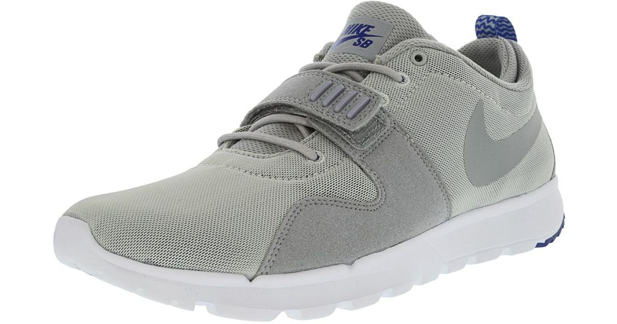 b6c5aade3f96 Lyst - Nike Trainerendor 11 Pure Platinum   Game Royal White Wolf Grey Ankle -high Skateboarding Shoe - 11m in Gray for Men