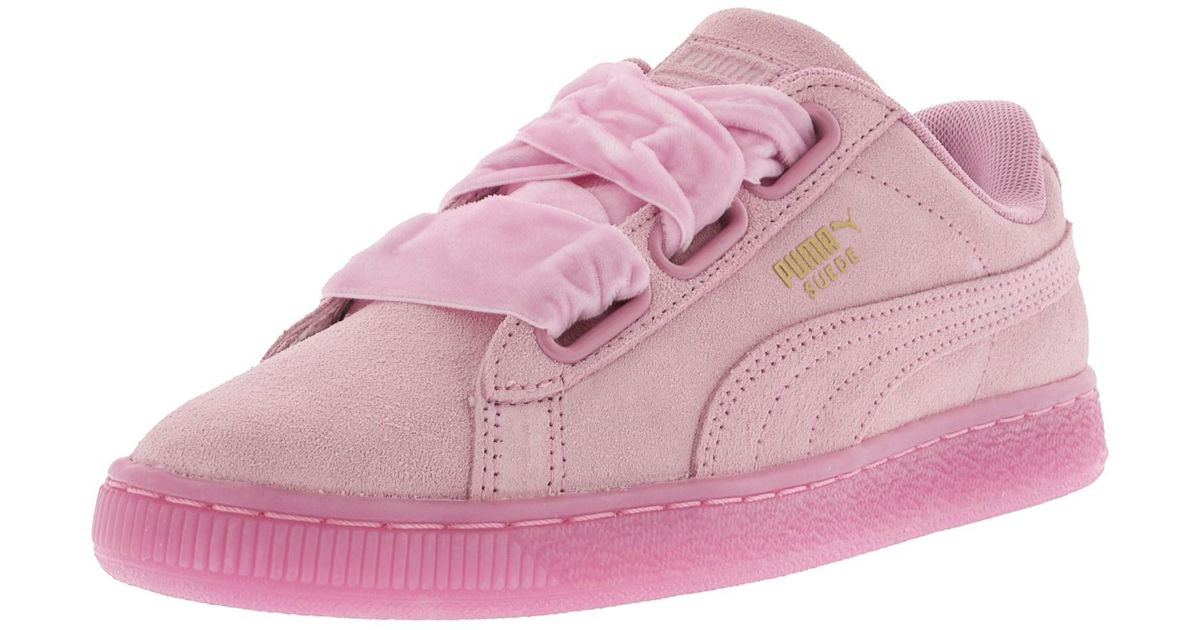 san francisco 546f4 1b484 PUMA - Heart Reset Suede Prism Pink / Ankle-high Fashion Sneaker - 7.5m -  Lyst