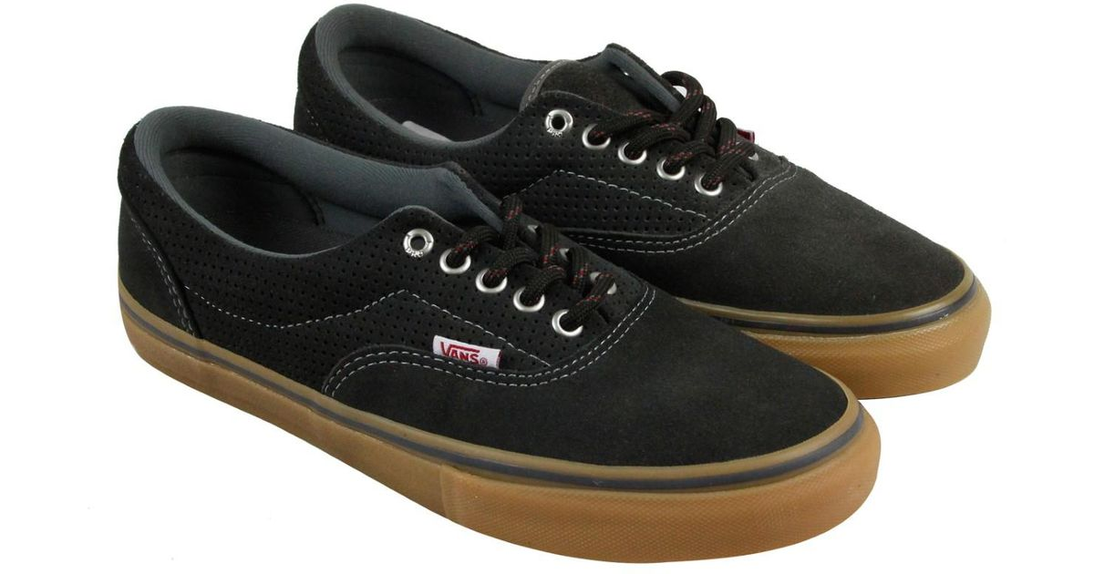 035b7f10163230 Lyst - Vans Era Pro Perforated Carbon Mens Lace Up Sneakers in Black for Men