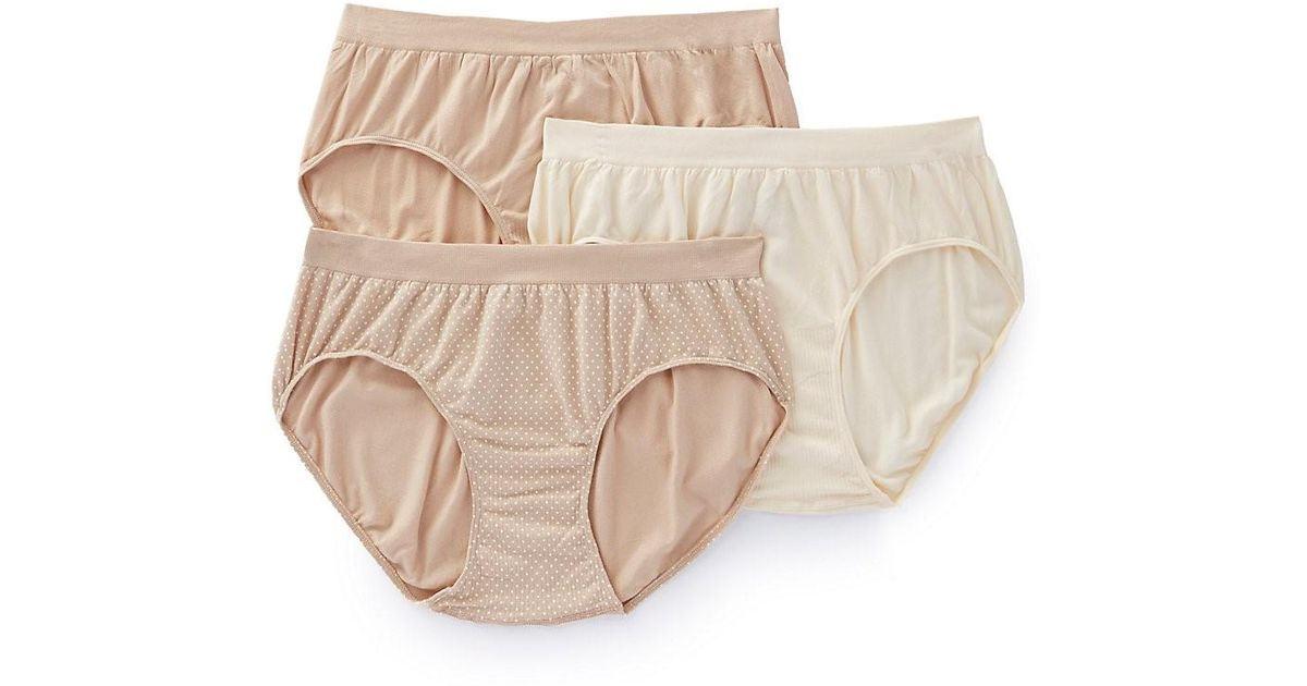 589aeffb891f Bali Dfak90 Comfort Revolution Microfiber Hipster Panty- 3pack in Natural -  Save 19% - Lyst