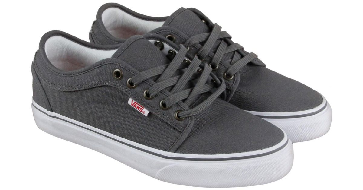 a36204121f080e Lyst - Vans Chukka Low Pewter White Red Lace Up Sneakers in Gray for Men