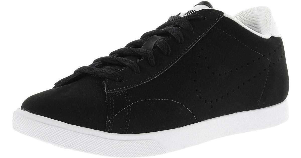 reputable site 29f8e b7151 Lyst - Nike Racquette Black  Black-white Ankle-high Leather Racquetball  Shoe in Black for Men
