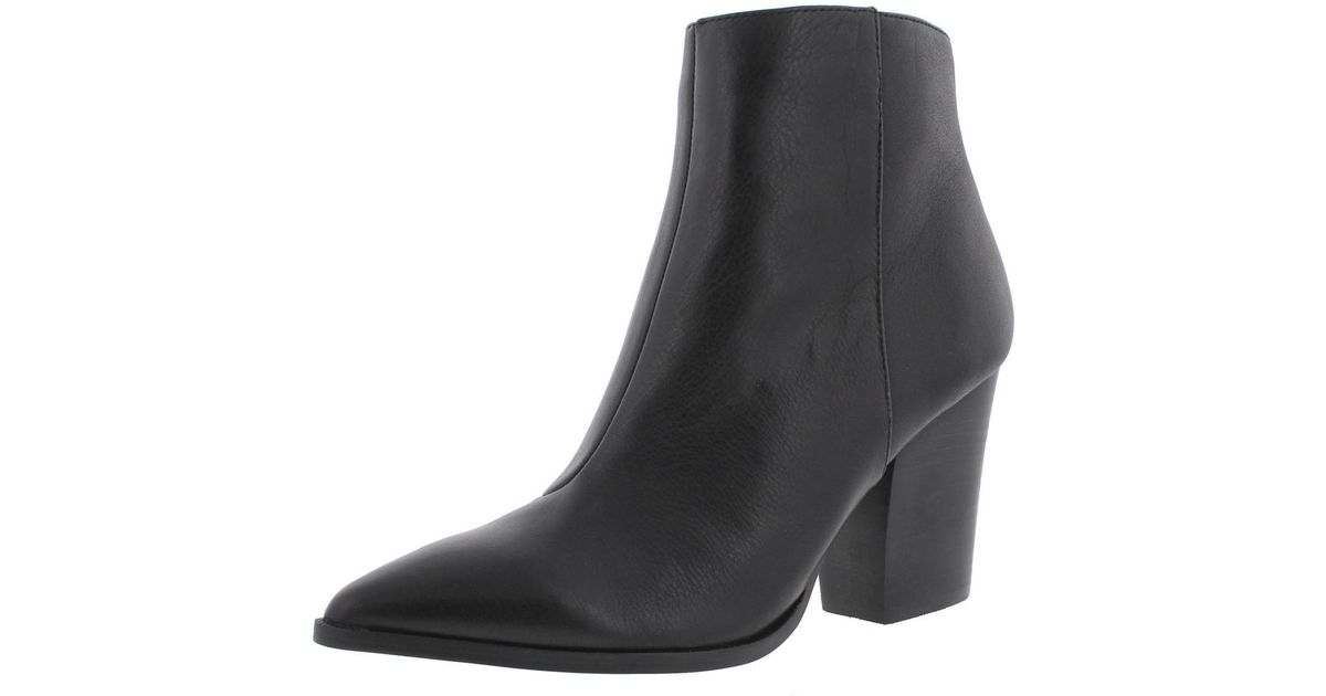 dc2dffb02ed Lyst - Steve Madden Marissa Leather Pointed Toe Ankle Boots in Black