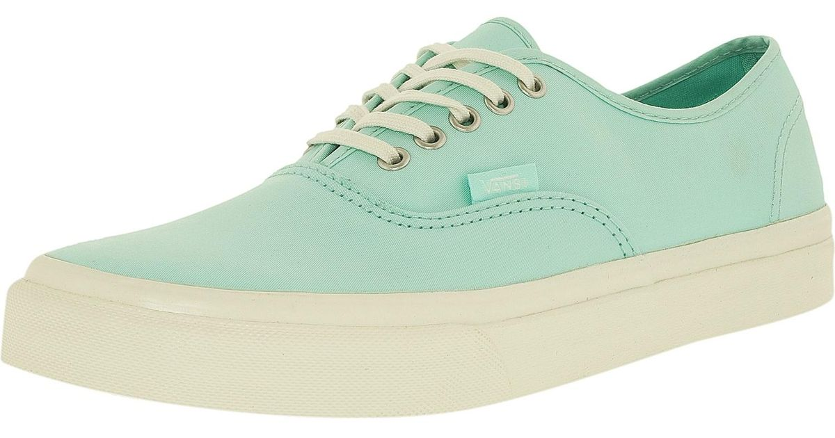 748e20cb70 Lyst - Vans Authentic Slim Brushed Twill Light Blue blanco De Blanco Ankle- high Cotton Flat Shoe in Blue
