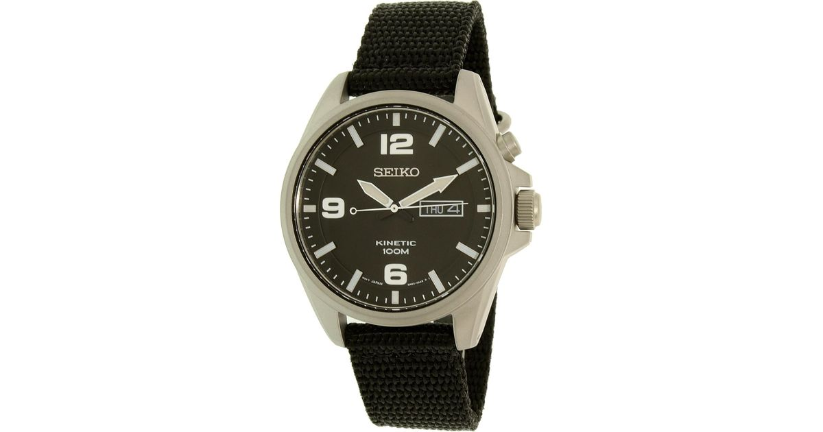 0e3af5ee0c9 Lyst - Seiko Smy143 Gunmetal Nylon Automatic Sport Watch for Men