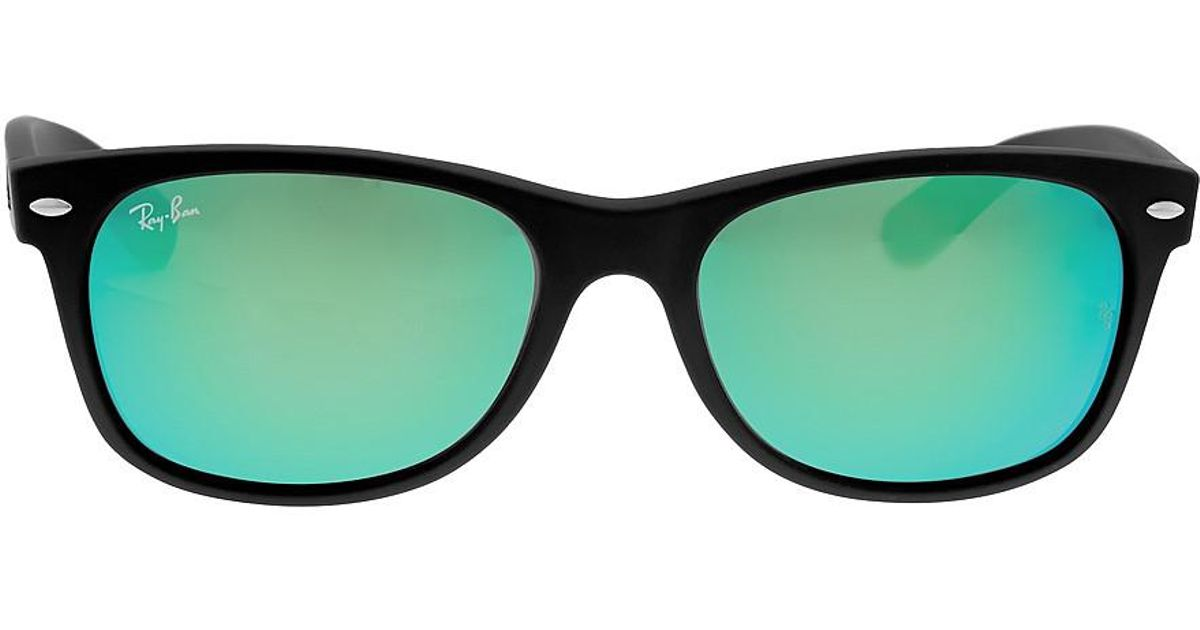 f532aee630 Lyst - Ray-Ban Ray Ban New Wayfarer Flash Green Flash Sunglasses Rb2132 622  19 55-18 in Green