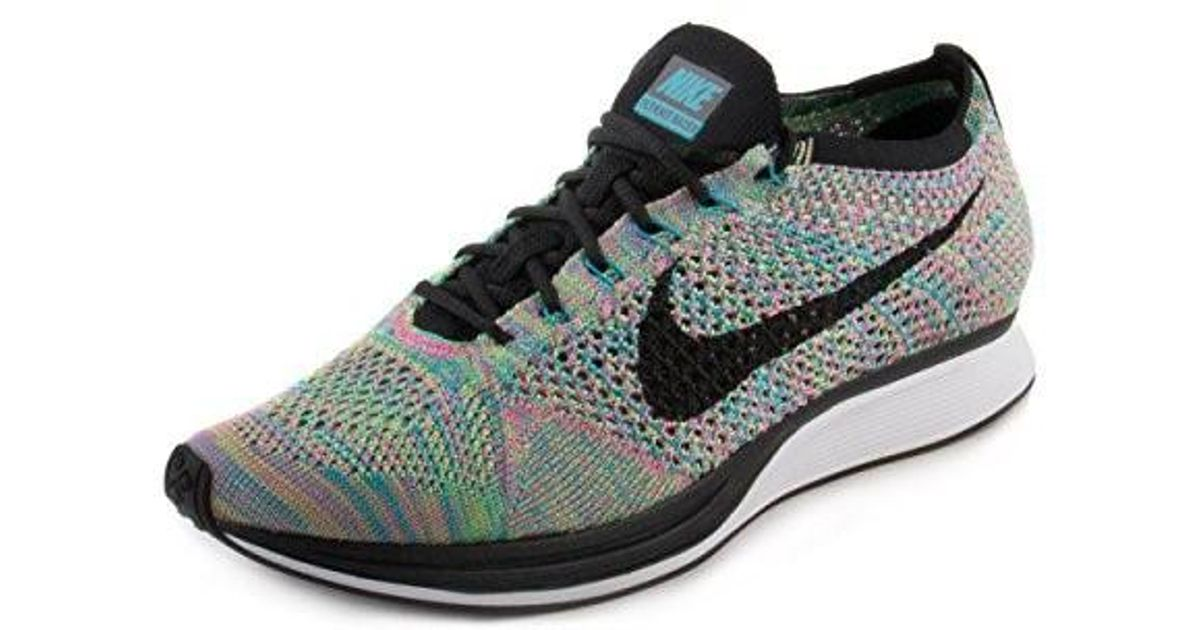 aab0cc0865c0 Lyst - Nike Mens Flyknit Racer Running Shoes Green Strike black blue Lagoon  526628-304 Size 12 in Black for Men