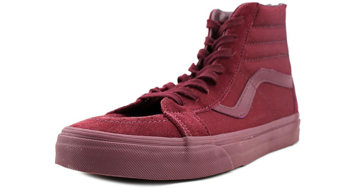 a8f9c3698be9f2 Lyst - Vans Sk8-hi Reissue Zip Men Round Toe Suede Burgundy Skate Shoe in  Red for Men