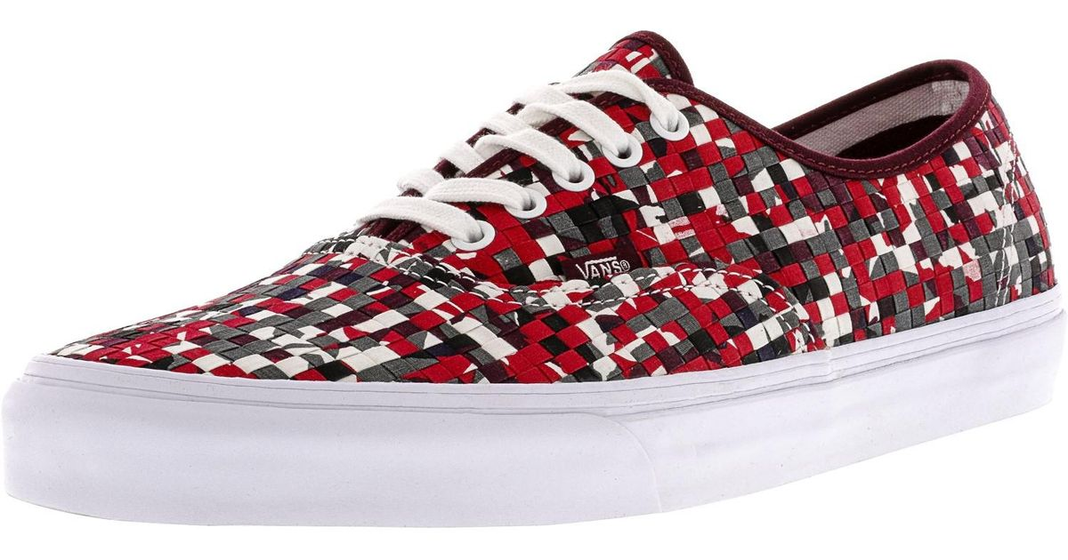 123e977c04eb Lyst - Vans Authentic Dx Woven Textile Multi in Red for Men