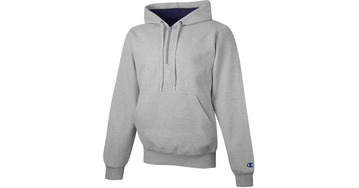 05823011e563 Lyst - Champion Cotton Max Adult 14 Zip Hood in Gray for Men
