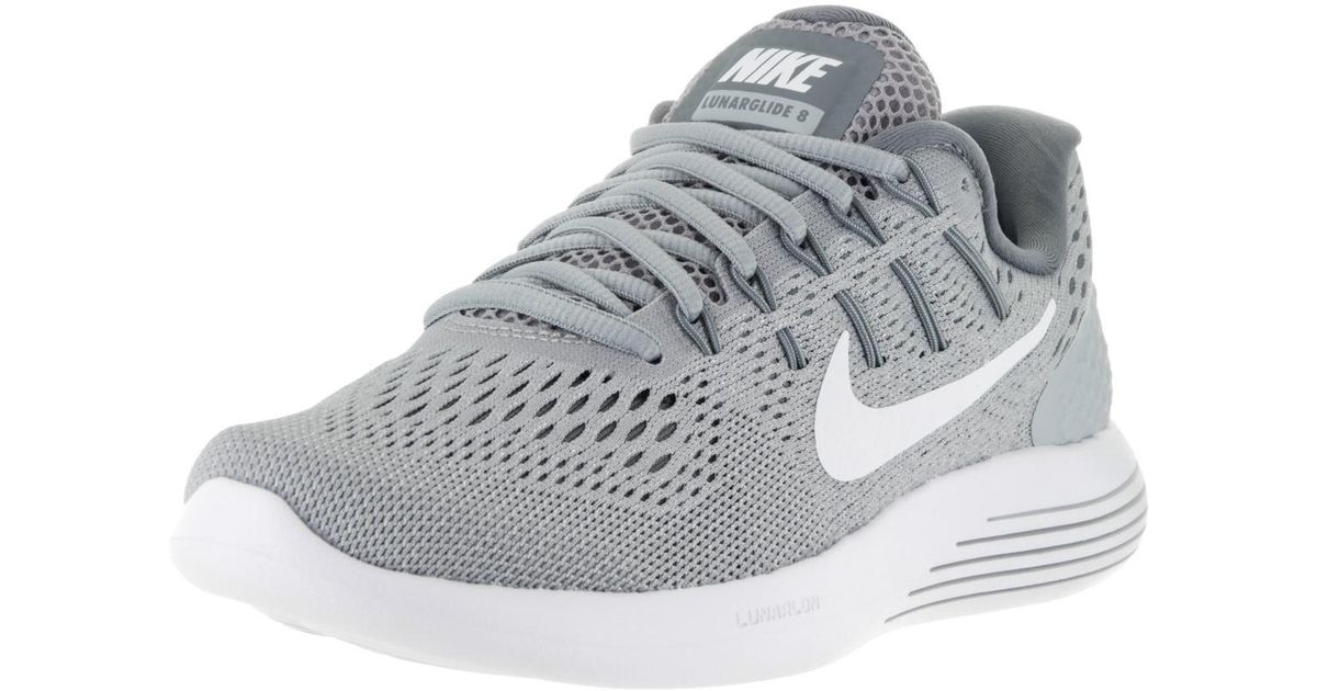 86b35d8892cf Lyst - Nike Lunarglide 8 Wolf Grey white Cool Grey Running Shoe 5 Women Us  in Gray