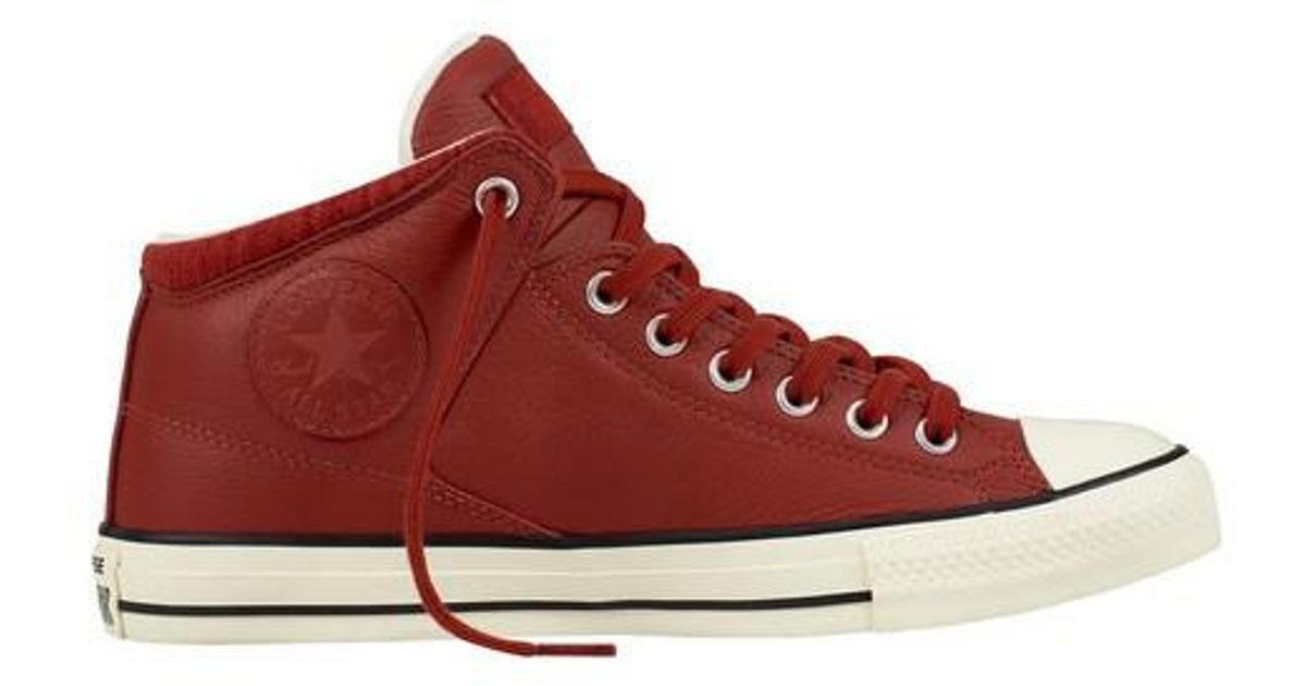 Lyst - Converse Unisex Chuck Taylor All Star High Street Hi Tumbled in Red  for Men 2b6af2584