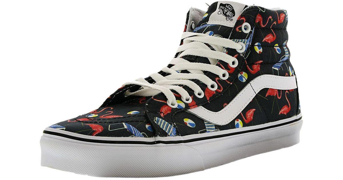 6e3af53399 Lyst - Vans Sk8-hi Reissue Pool Vibes black true White High-top Canvas Fashion  Sneaker in Black for Men